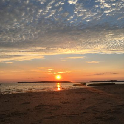 Cape Cod Beach Vacation - Wellfleet Harbor Sunset