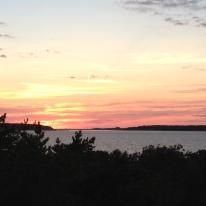 Cape Cod Beach Vacation Wellfleet Sunset Over Bay