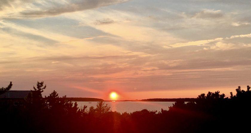 Cape Cod Beach Vacation Wellfleet Sunset Over the Water