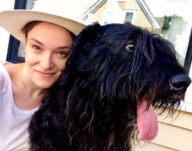 Provincetown Cape Cod Vacation Bouviers des Flandres Dogs Outside