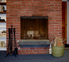 Cape Cod Vacation House Brick Fireplace