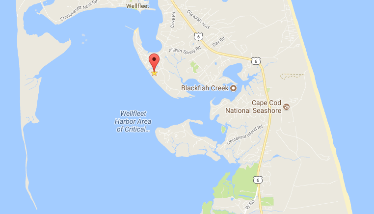Wellfleet Cape Cod Vacation House Map